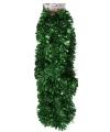 Groene folie slinger 270 x 12 cm