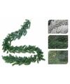 Groene kerst guirlande met sneeuw 180 cm