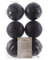 Grote zwarte kerstballen 10 cm