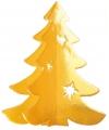 Hangdecoratie kerstboom goud 35 cm