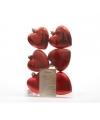 Hartjes kerstballen hangers rood