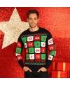 Heren kersttrui adventskalender 3d