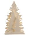 Houten kerstboompje met led