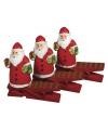 Houten kerstman knijpers 4 5 cm