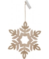 Houten sneeuwvlok 30 cm