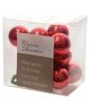 Insteek kerstballetjes rood 2 cm 10 stuks