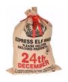 Kerst cadeauzak 24th december jute 100 cm