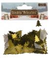 Kerst confetti gouden kerstboompjes 15 gram