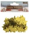 Kerst confetti gouden sterretjes 15 gram