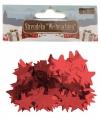 Kerst confetti rode sterretjes 15 gram