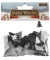 Kerst confetti zilveren kerstboompjes 15 gram