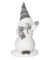 Kerst decoratie sneeuwpop 44 cm