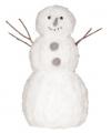 Kerst decoratie sneeuwpop van watten 42 cm