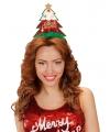 Kerst diadeem met rode kerstboom