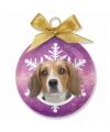 Kerst dieren kerstbal beagle 8 cm
