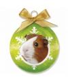 Kerst dieren kerstbal cavia 8 cm