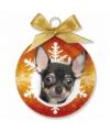 Kerst dieren kerstbal chihuahua 8 cm