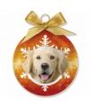 Kerst dieren kerstbal golden retriever 8 cm