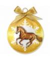 Kerst dieren kerstbal paard 8 cm