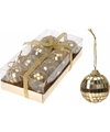 Kerst discoballen goud 4 cm