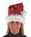 Kerst gebreide kerstmuts voor volwassenen