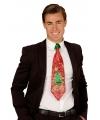 Kerst glitter stropdas met kerstboom