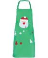 Kerst groen kerst schort voor kinderen