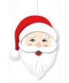 Kerst hangdecoratie kerstman hoofd