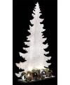 Kerst houten kerstboom wit met licht 36 cm