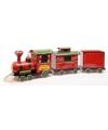 Kerst ijzeren kerst locomotief met wagons
