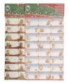 Kerst kado stickers 24 stuks