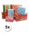 Kerst kadopapier 5 rollen