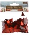 Kerst kerst confetti rode kerstboompjes 15 gram