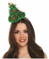 Kerst kerst diadeem met kerstboom