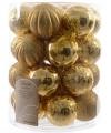 Kerst kerstballen mix goud 26 stuks