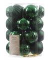 Kerst kerstballen mix groen 26 stuks