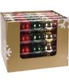 Kerst kerstballen mix rood groen 5 stuks
