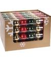 Kerst kerstballen mix rood groen 6 stuks