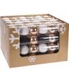 Kerst kerstballen mix wit goud 6 stuks