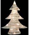Kerst led kerstboom wit 50 cm