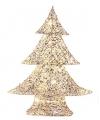 Kerst led kerstboom zilvergoud 48 cm