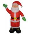 Kerst opblaasbare kerstman 240 cm