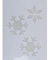Kerst raamsjabloon sneeuwvlok 35 cm