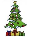 Kerst raamsticker kerstboom 18 cm