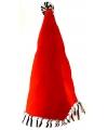 Kerst rode kerstmuts met zebraprint