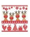 Kerst servetten 4 red noses