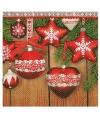 Kerst servetten met kerst ornamenten