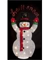 Kerst sneeuwpop met led verlichting 82 cm