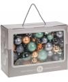 Kerstballen 86 delig goud groen grijs