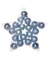 Kerstballen mix blauw 20 stuks